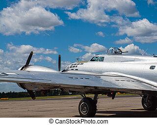 A, World, War, II, B17, Bomber's, Propellers