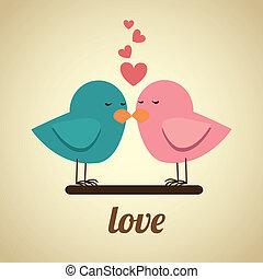 love design over beige background vector illustration
