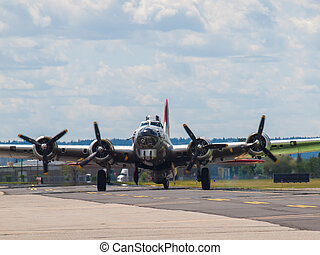 A World War II B17 Bomber's Propellers