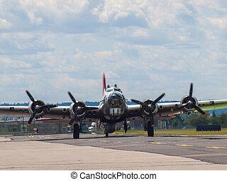A World War II B17 Bomber's Propellers