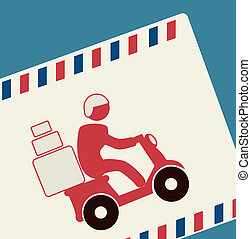 delivery design over blue background vector illustration