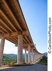 viaducto de Bunol in Autovia A-3 road Valencia Spain