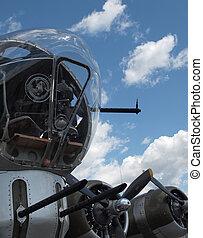 Details, World, War, II, B17, Bomber's, Propellers, Guns