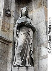 Saint Joan of Valois statue, Saint Germain l'Auxerrois...