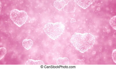 Valentine day background - Hearts and particles, Valentine...