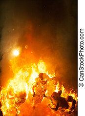 Crema in Fallas Valencia March 19 night all figures are burn...