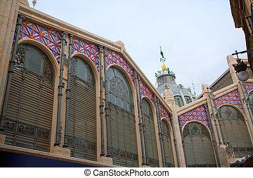 Mercado Mercat Central market in Valencia Spain - Mercado...