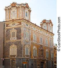 Marques de dos Aguas Palace with alabaster facade Valencia -...
