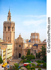 El,  miguelete,  Downtown, historisch, kathedraal,  VALENCIA