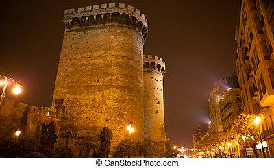Torres de Quart Quarte in Valencia towers old city fort...