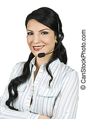 Cute support operator woman - Cute support operator woman...