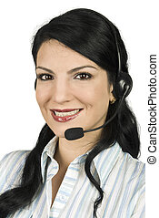 Costumer service - Portrait of beautiful costumer service...