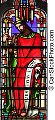 King Solomon, stained glass window