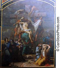 deposição, crucifixos