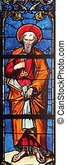 Saint Peter apostle, stained glass window