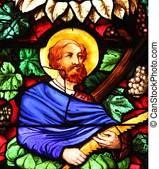 Apostle, stained glass