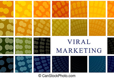 Viral Marketing Modern Business Concept as a Art