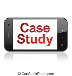Education concept: Case Study on smartphone - Education...