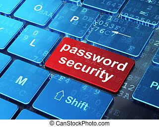 Protection concept: Password Security on computer keyboard background