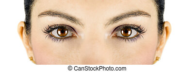 Beautiful eyes - Beautiful brown woman eyes looking at you