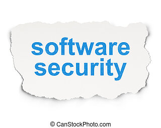 Protection concept: Software Security on Paper background