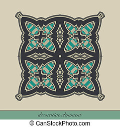 Decorative element for page design, or for other graphic...