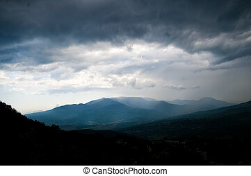 mountains landscape - Changeable weather in mountains....