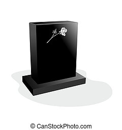 grief - simple illustration of a tombstone with engraved...