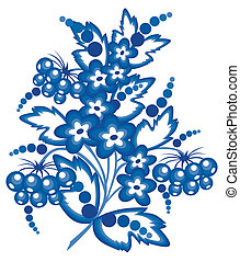 Abstract floral branch - Illustration of floral branch in...