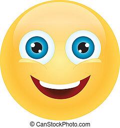 emoticon happy - cute simple little emoticon happily smiling