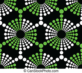 Seamless Geometric Ornament - Vector Seamless Abstract...