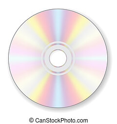 CD digital compact disc on white background