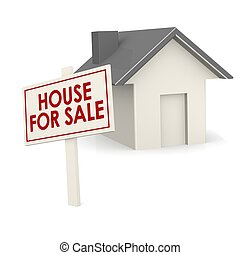 House for sale banner with house