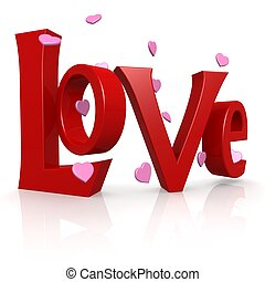 Love word image with hi-res rendered artwork that could be...
