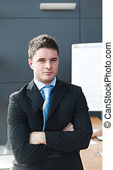 Business leader  Looking at camera