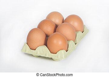 Marrom, ovos