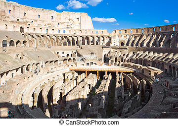 Colosseum in Rome - Ruins of ancient roman amphitheater...