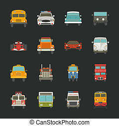 Car icons , transport