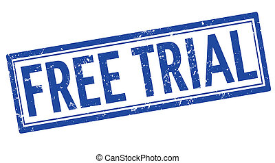 Free trial stamp - Free trial grunge stamp on white, vector...
