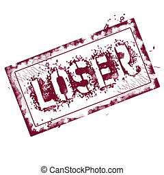 Loser stamp - Loser grunge stamp on white, vector...
