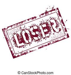 Loser stamp - Loser grunge stamp on white, vector...