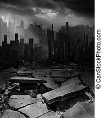 Earthquake - Terrible earthquake destroyed the great city