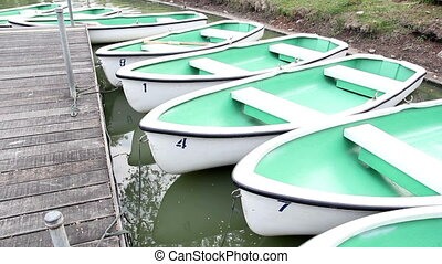 rowboats in the park