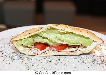 Sandwich with tuna fish