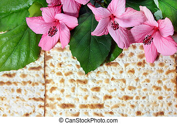 spring holiday of Passover and its attributes, matzo