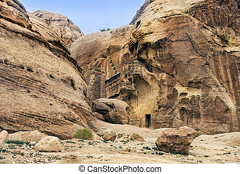 unique ancient city of Petra in Jordan
