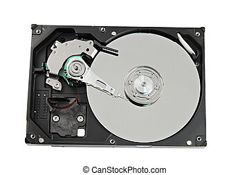 Hard drive on white backgroun. - The picture focus Hard...