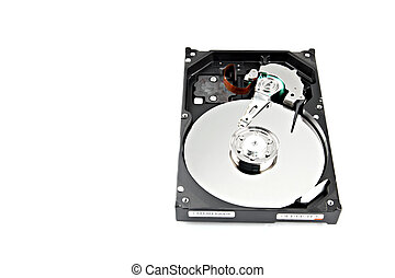 Open to see inside Hard drive to store data - Open to see...