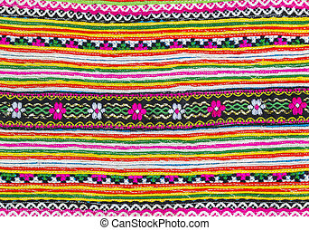Colorful fabric pattern - Closeup colorful of alternation...