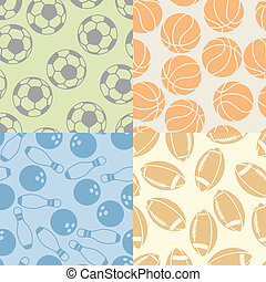 Seamless patterns of sport icons.